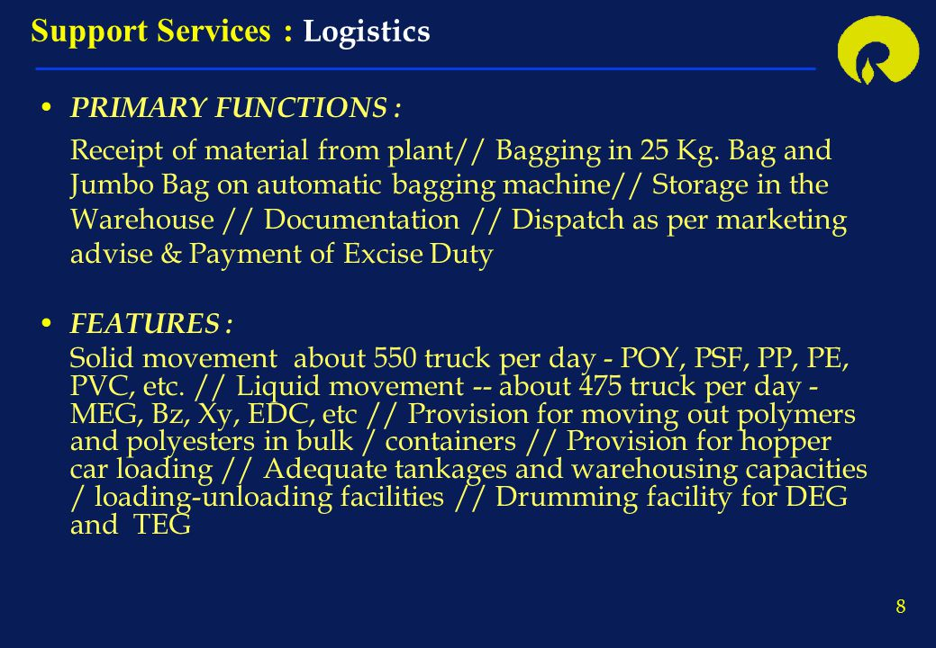 Support Services : Logistics