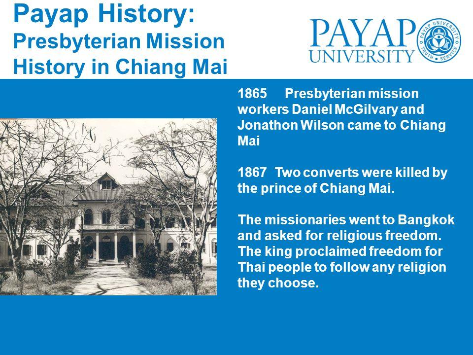 Payap History: Presbyterian Mission History in Chiang Mai