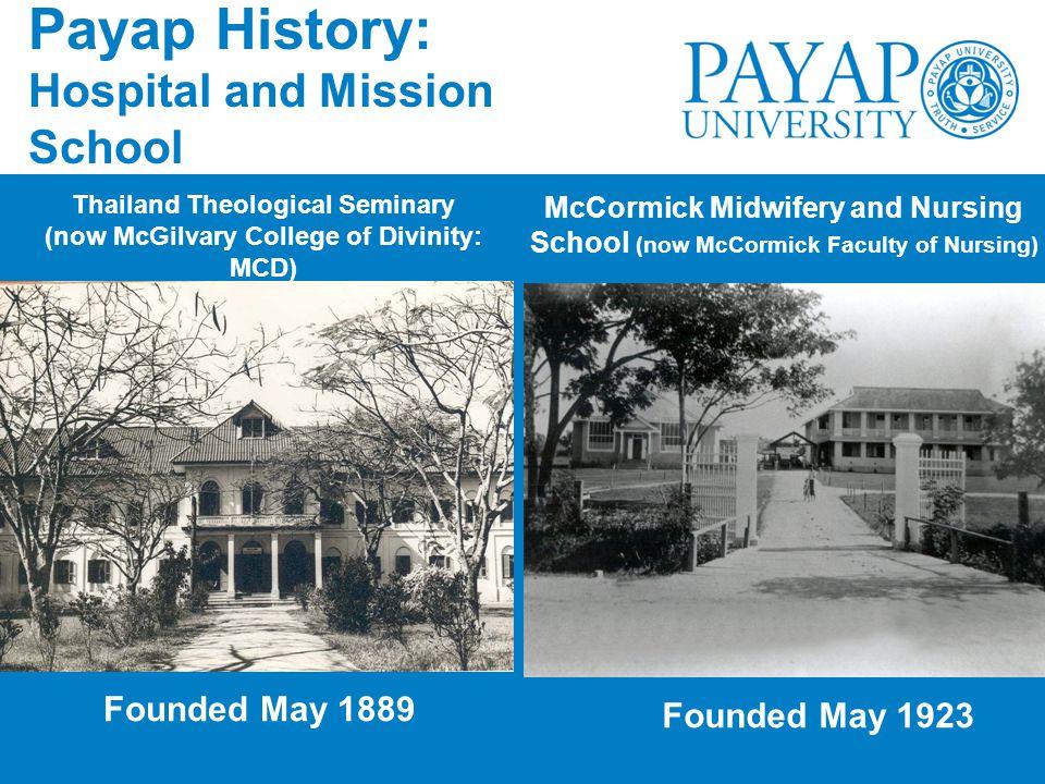 Payap History: Hospital and Mission School