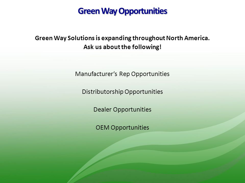 Green Way Opportunities