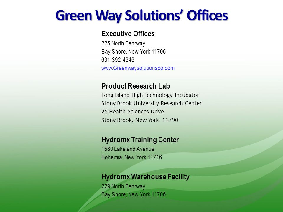 Green Way Solutions' Offices