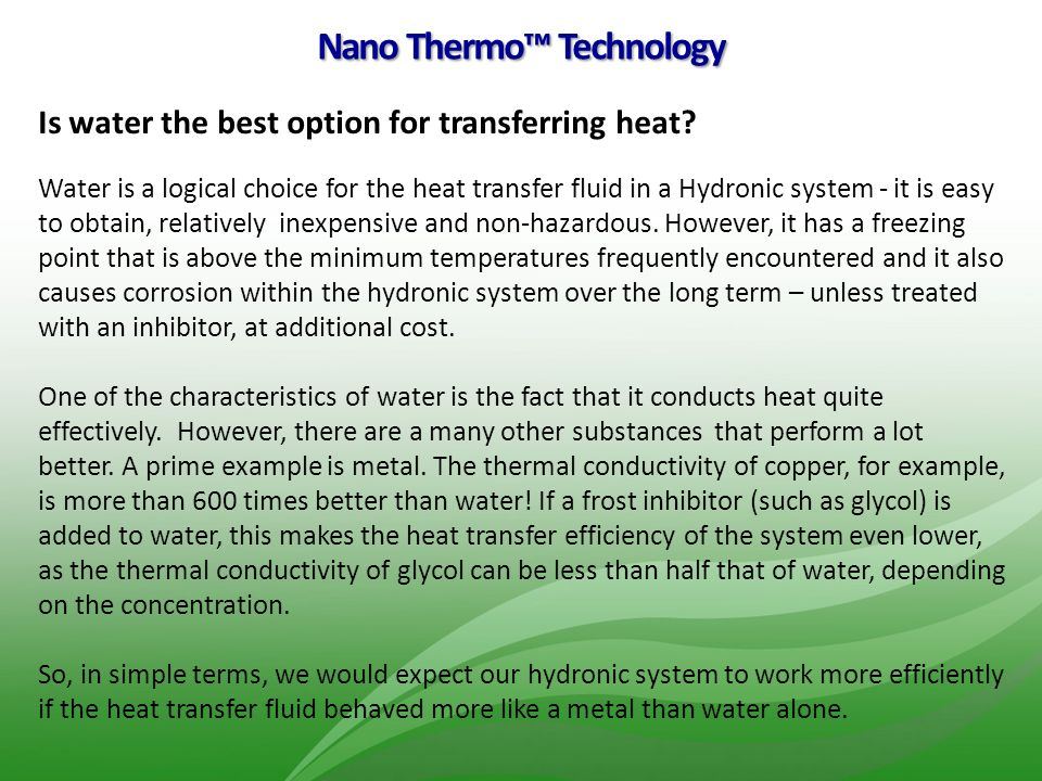 Nano Thermo™ Technology