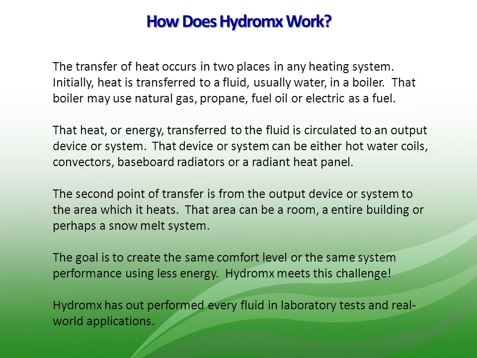 How Does Hydromx Work