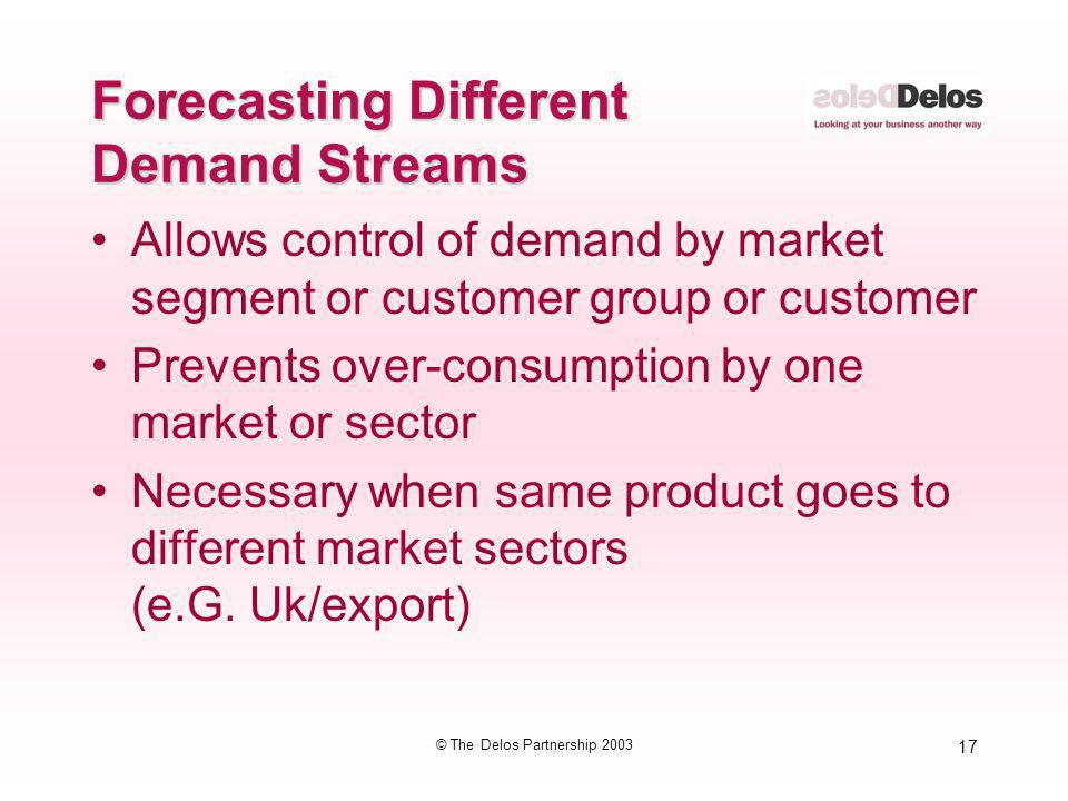 Forecasting Different Demand Streams