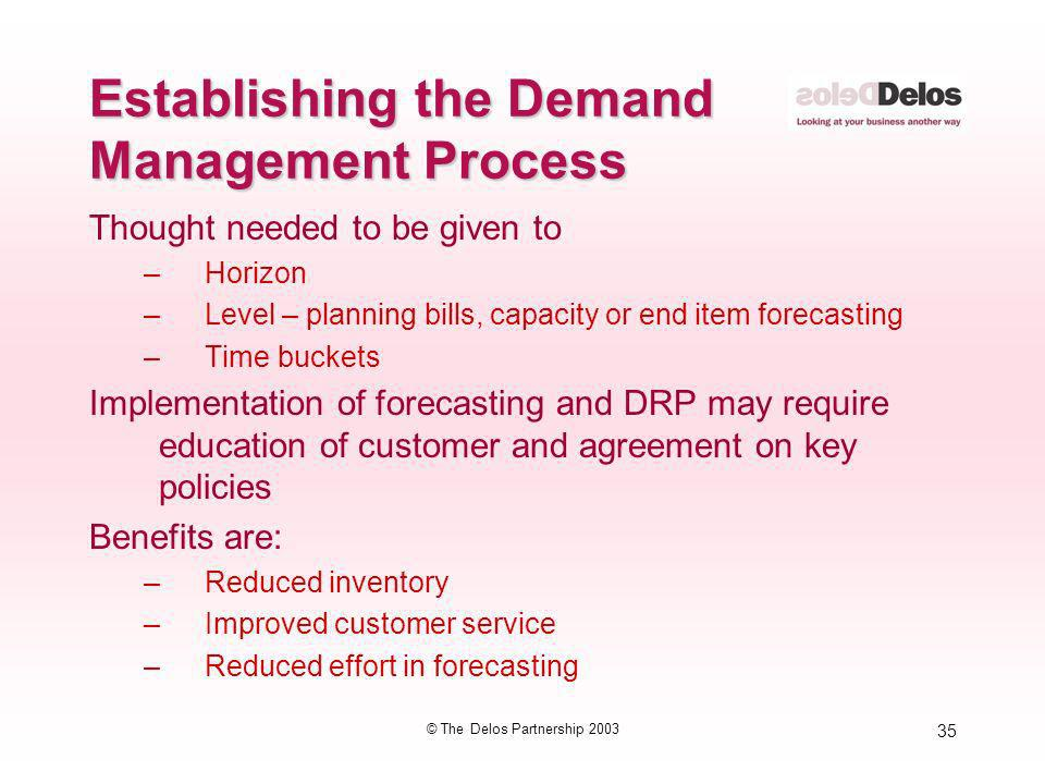 Establishing the Demand Management Process