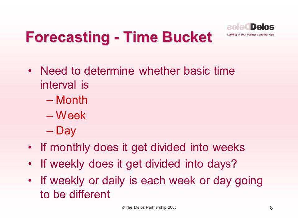 Forecasting - Time Bucket