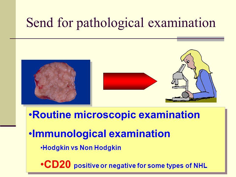 Send for pathological examination