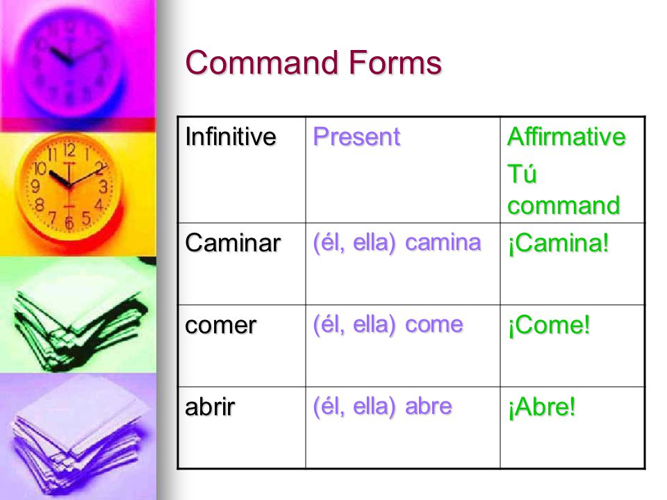 Affirmative Tú Commands Part two - ppt download