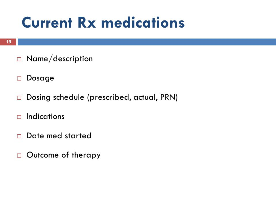 Current Rx medications