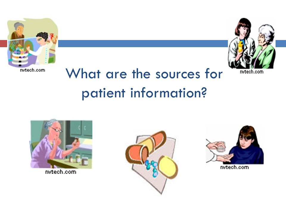 What are the sources for patient information