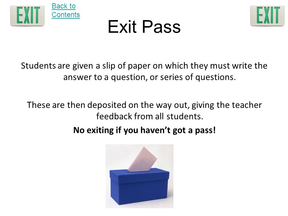 No exiting if you haven't got a pass!