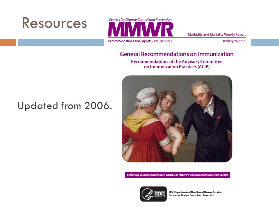 Resources Updated from 2006.