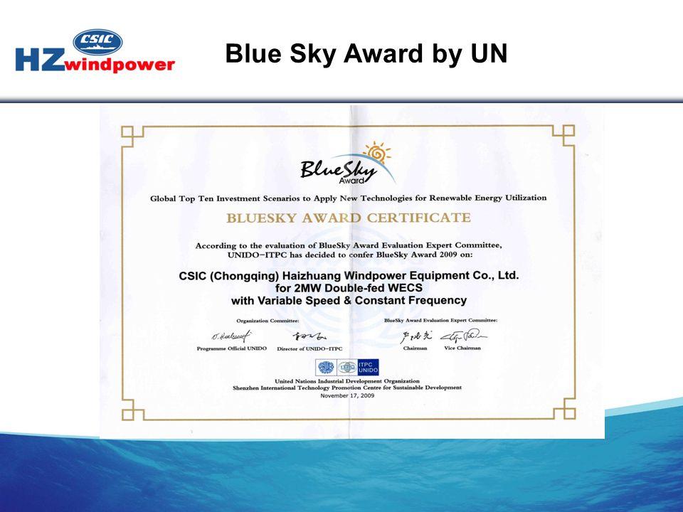 Blue Sky Award by UN