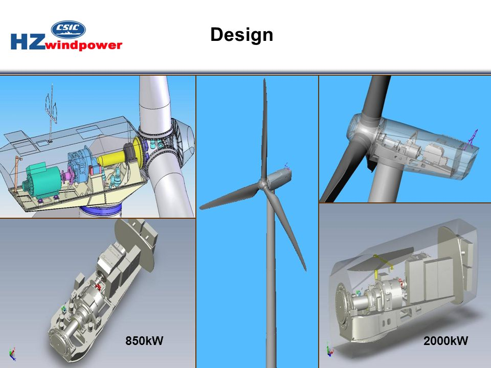 Design 850kW 2000kW