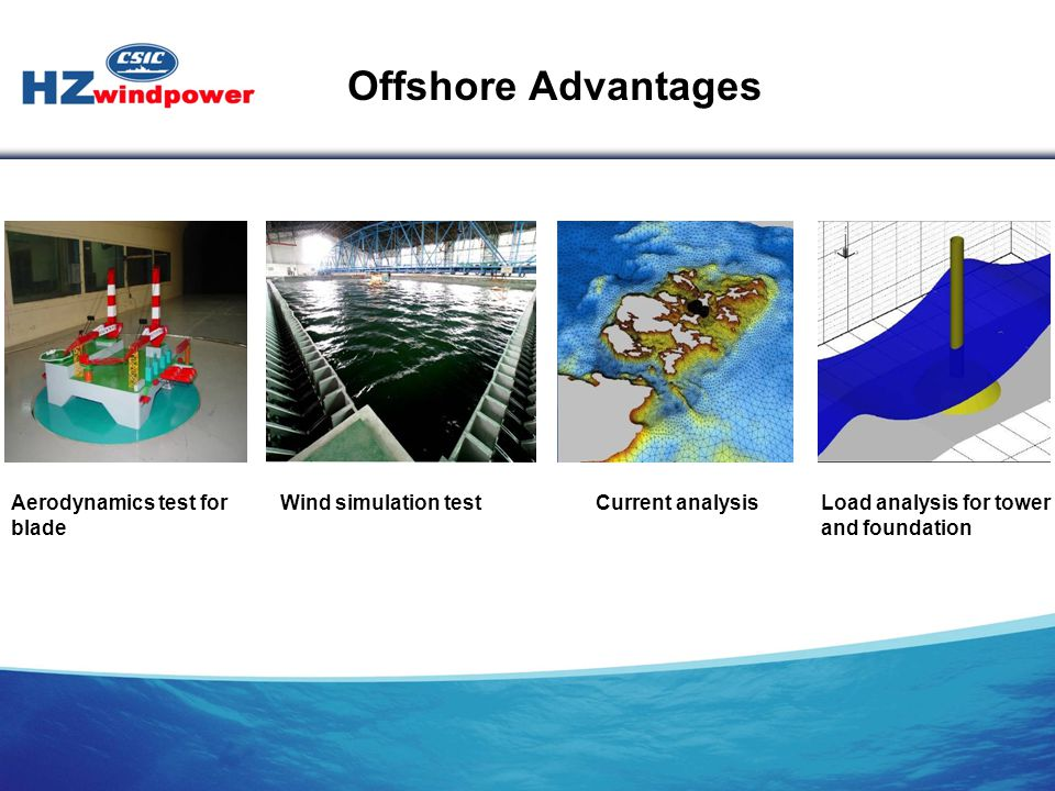Offshore Advantages Aerodynamics test for blade Wind simulation test