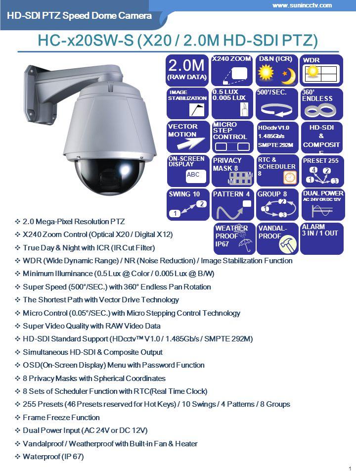 HC-x20SW-S (X20 / 2.0M HD-SDI PTZ)