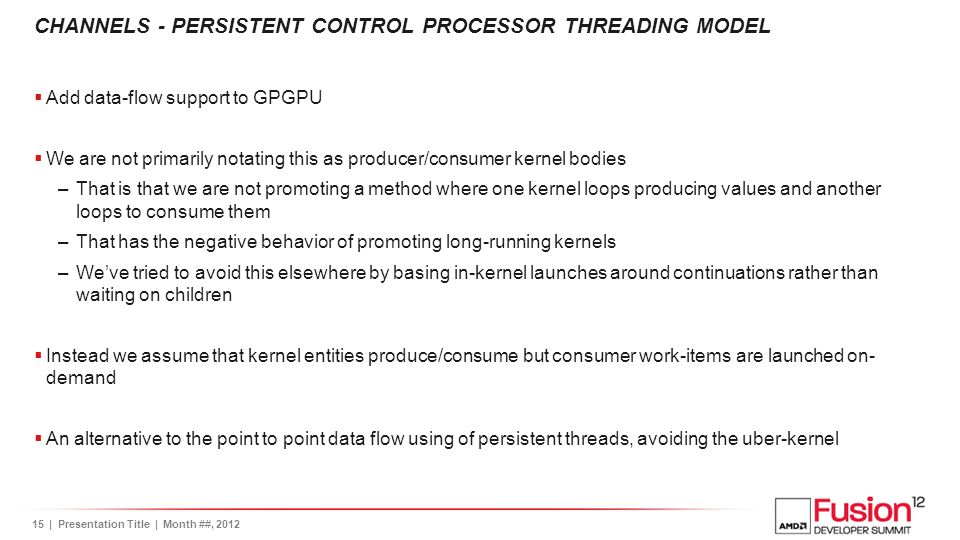 CHANNELS - Persistent Control Processor Threading Model