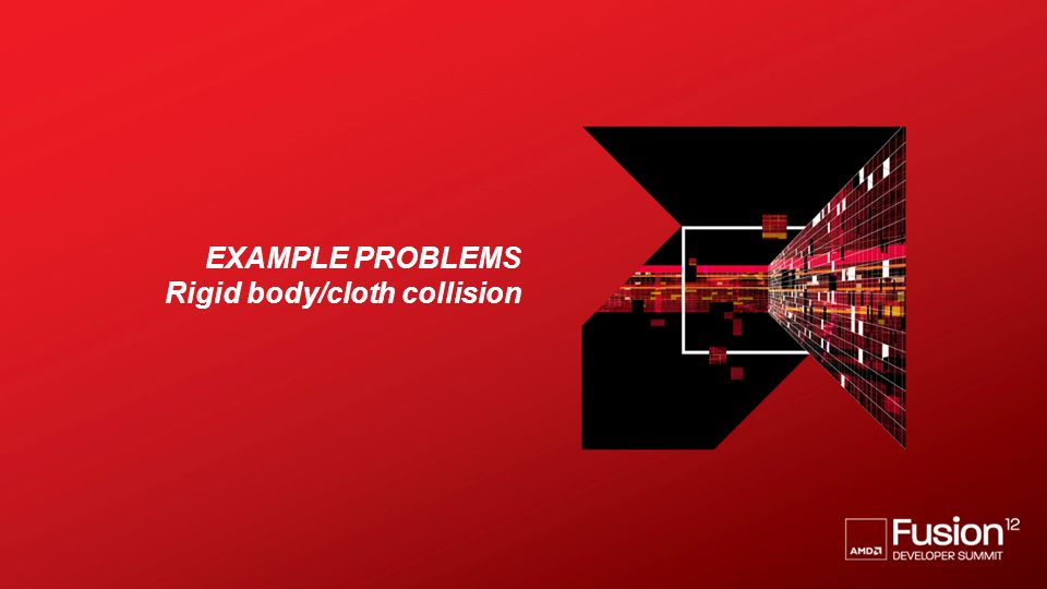 Example problems Rigid body/cloth collision