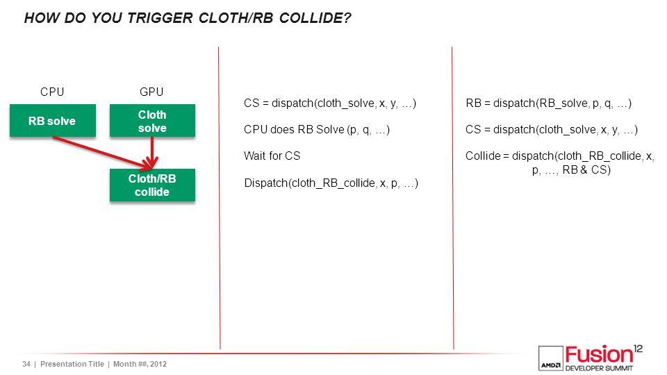 How do you trigger Cloth/RB collide