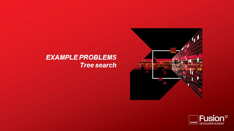 Example problems Tree search