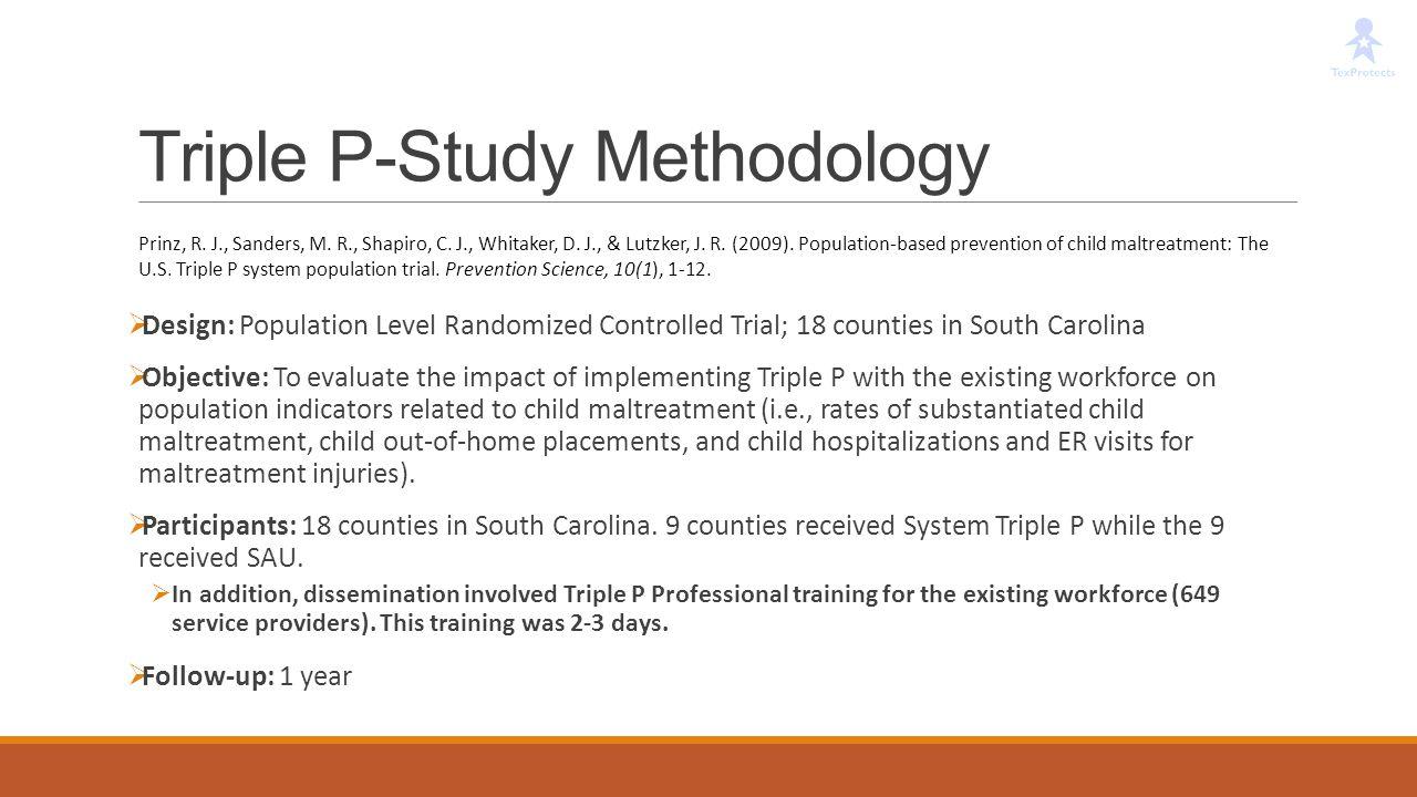 Triple P-Study Methodology