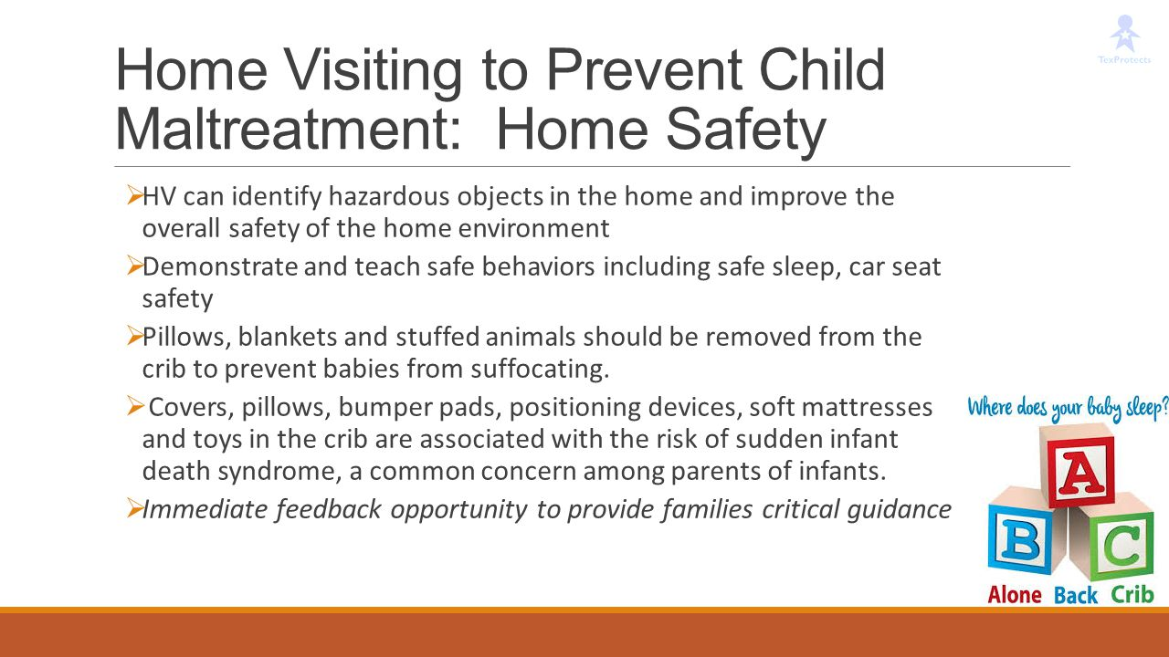 Home Visiting to Prevent Child Maltreatment: Home Safety