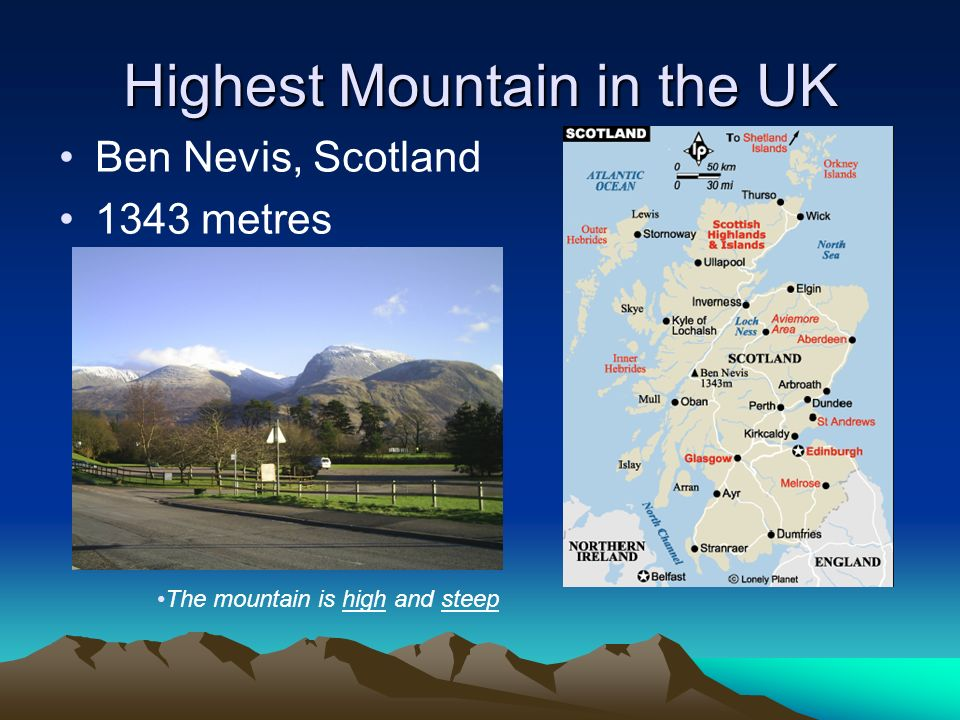 Highest Mountain in the UK