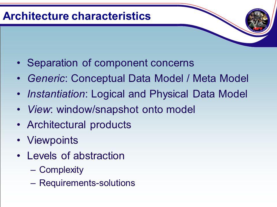 Architecture characteristics