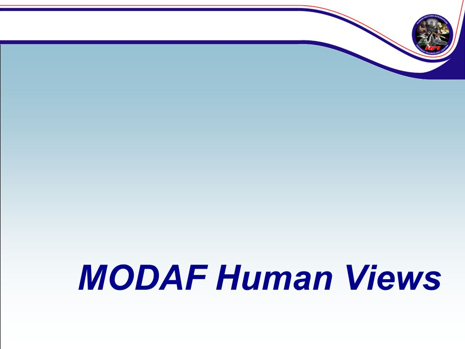 MODAF Human Views
