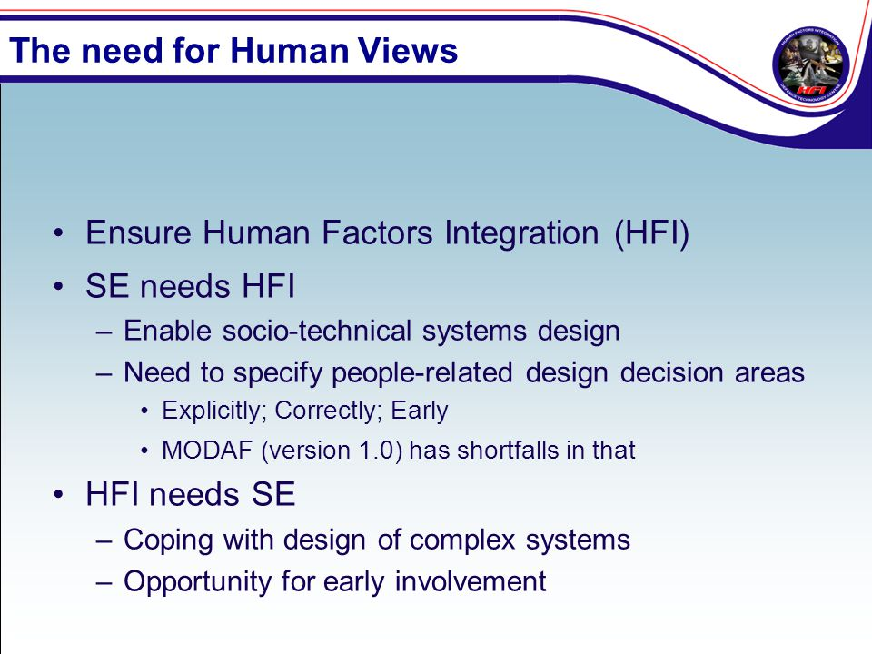 The need for Human Views