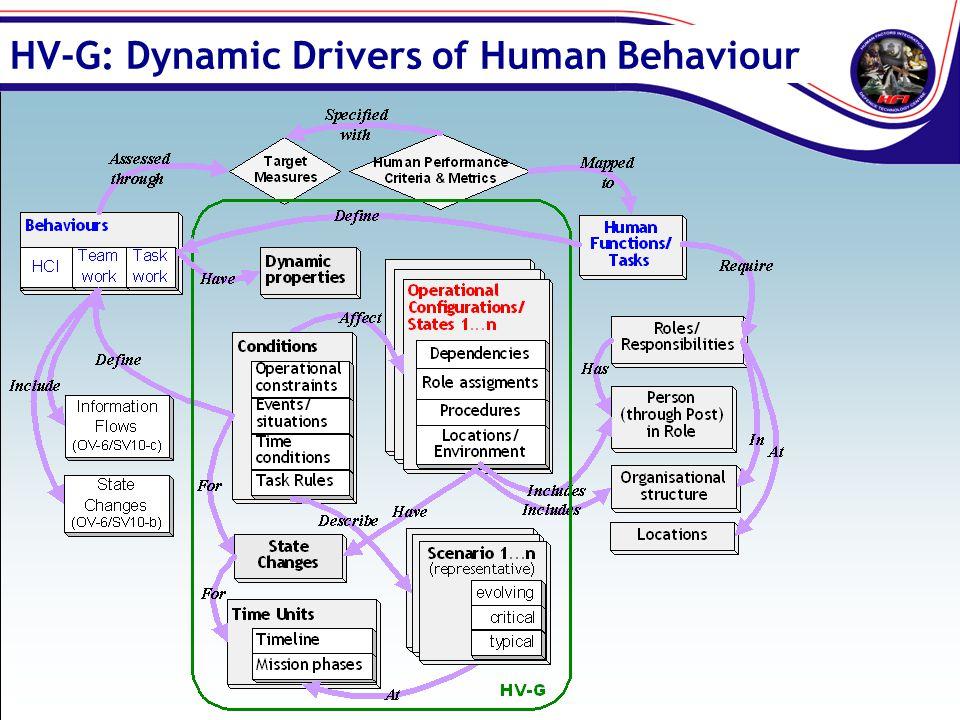 HV-G: Dynamic Drivers of Human Behaviour
