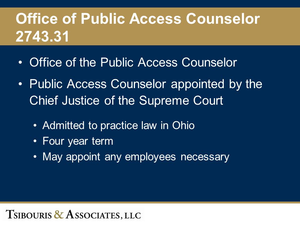 Office of Public Access Counselor 2743.31