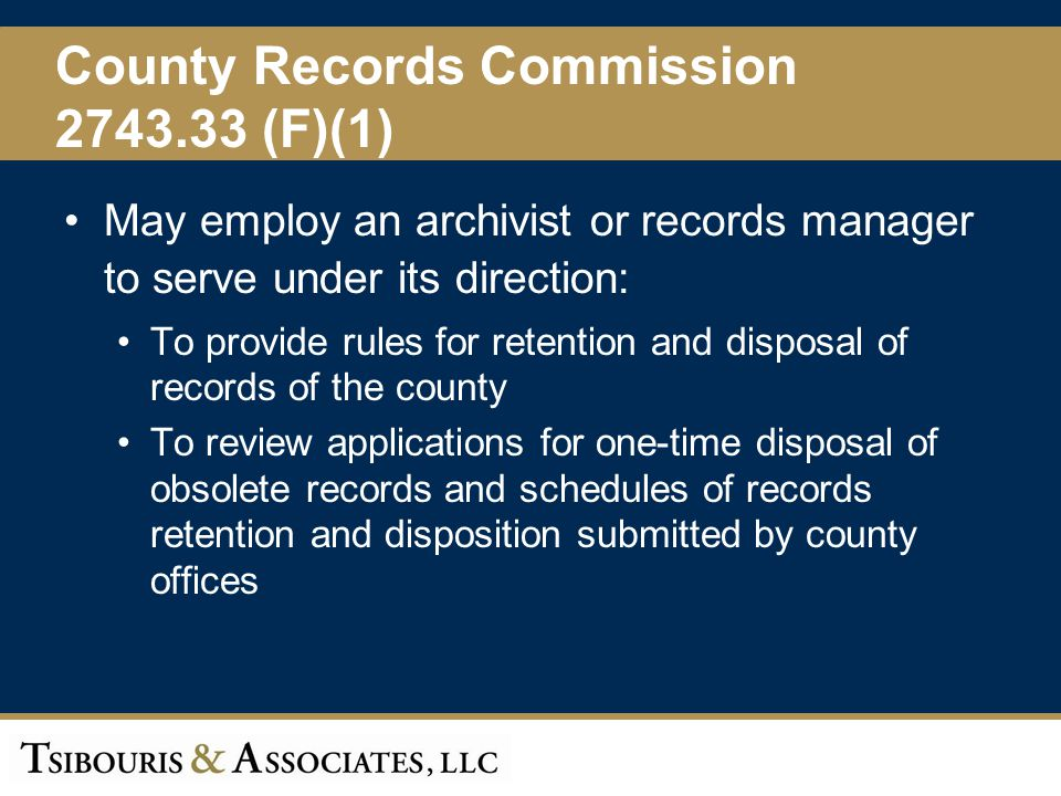County Records Commission 2743.33 (F)(1)