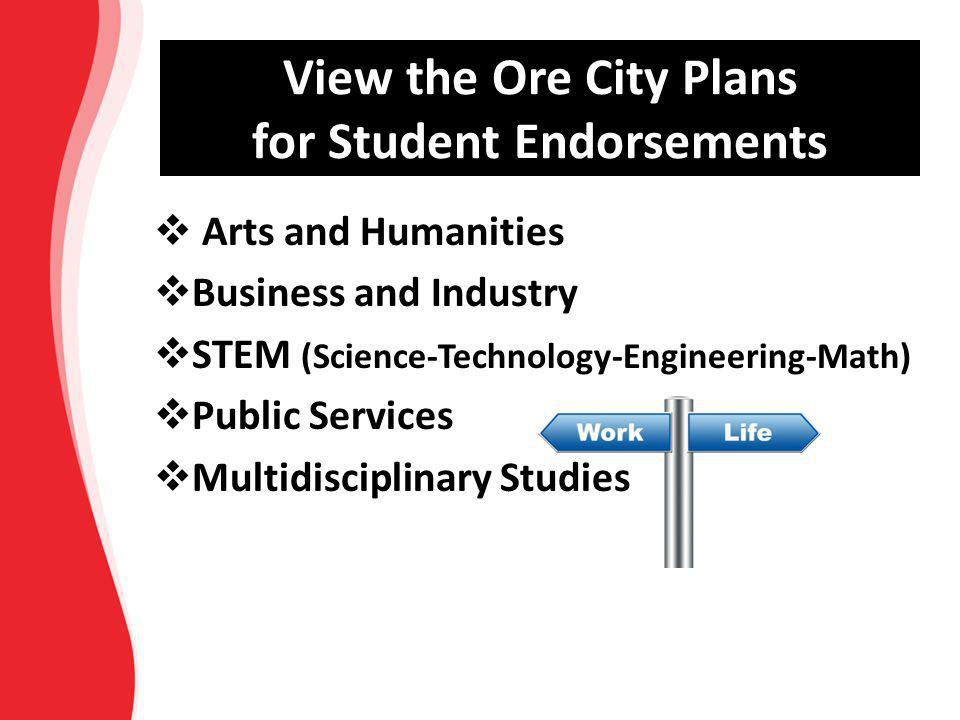 View the Ore City Plans for Student Endorsements