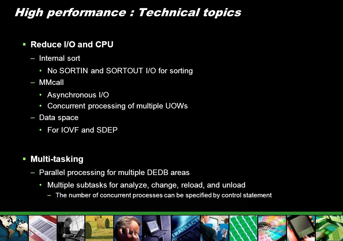 High performance : Technical topics