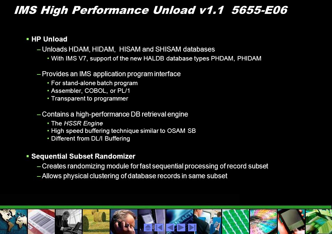 IMS High Performance Unload v1.1 5655-E06