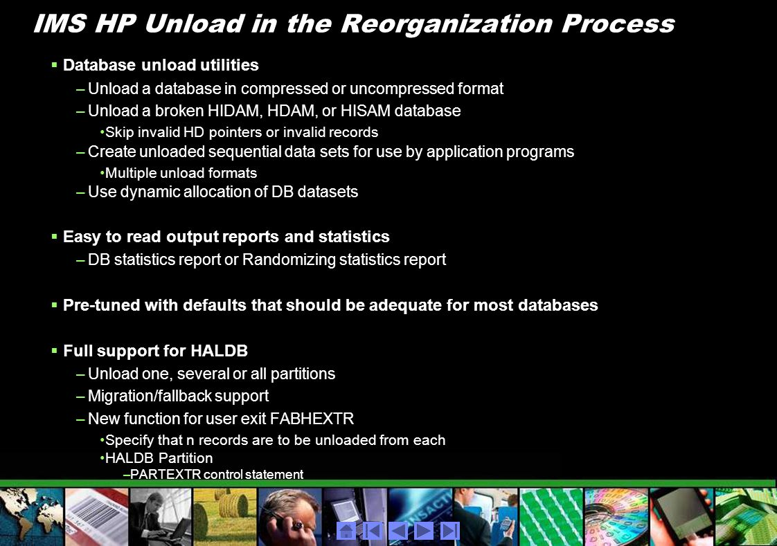 IMS HP Unload in the Reorganization Process