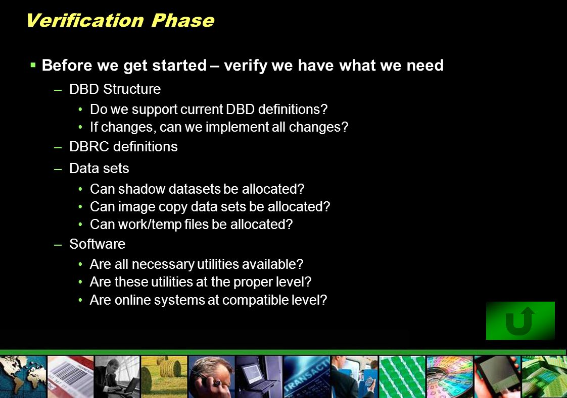 Verification Phase Before we get started – verify we have what we need