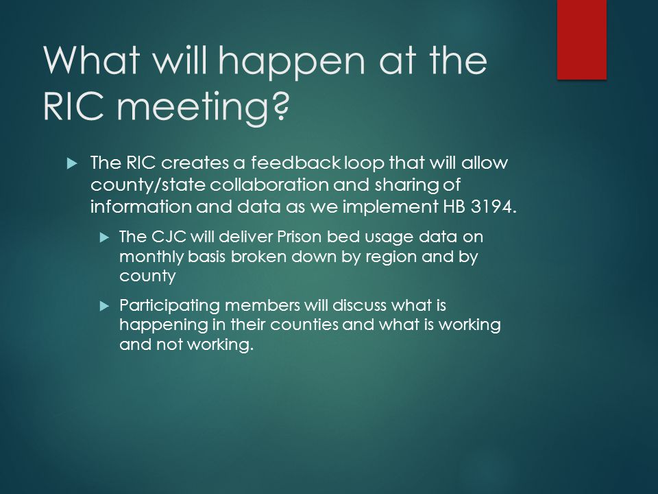 What will happen at the RIC meeting