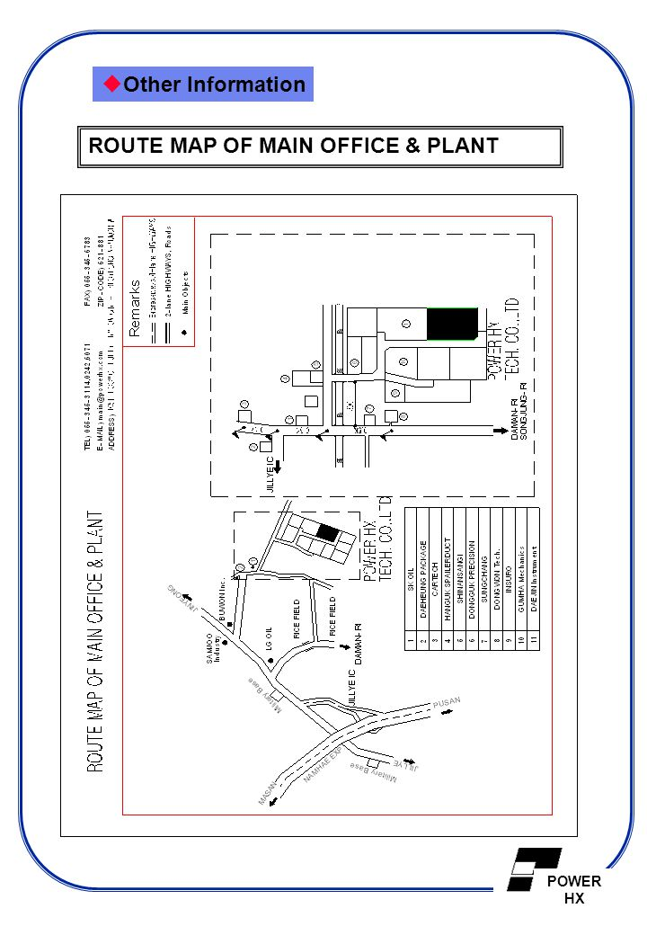 Other Information ROUTE MAP OF MAIN OFFICE & PLANT