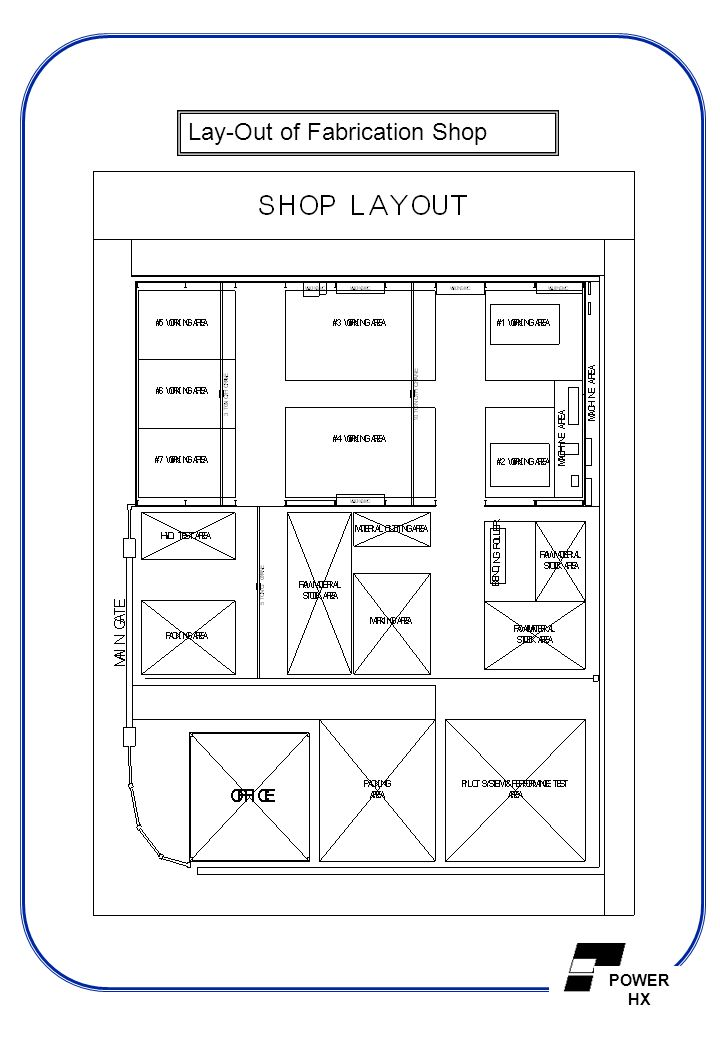Lay-Out of Fabrication Shop