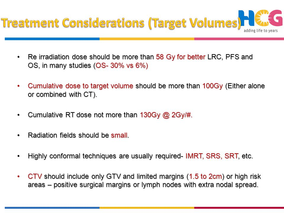 Treatment Considerations (Target Volumes)