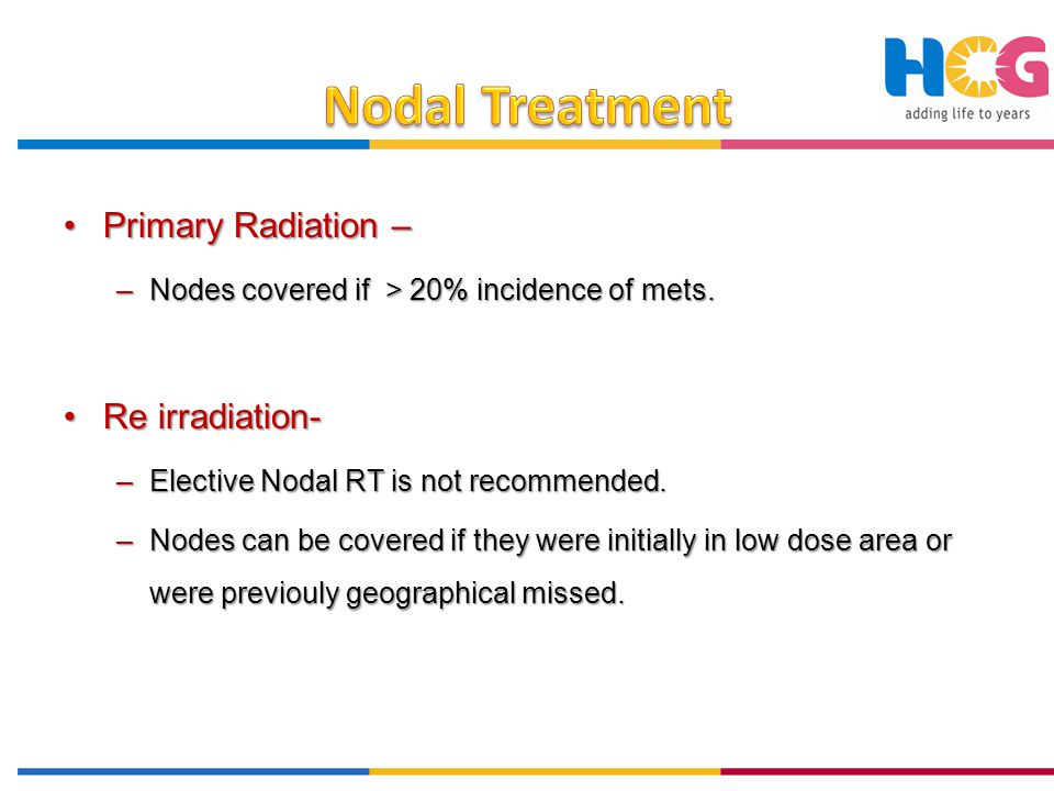 Nodal Treatment Primary Radiation – Re irradiation-