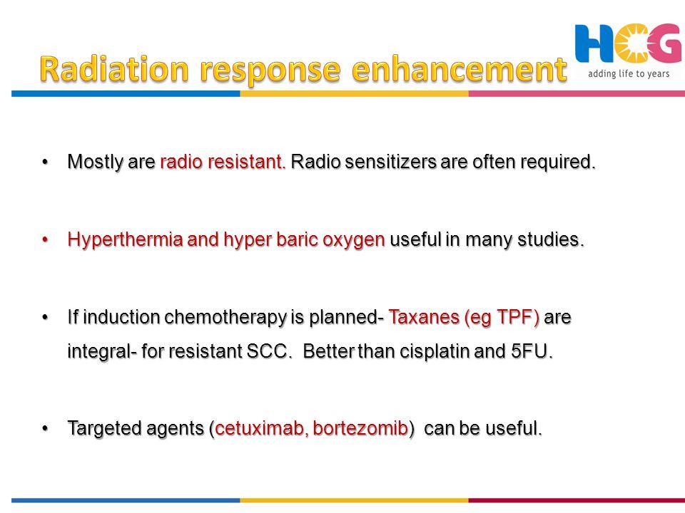 Radiation response enhancement