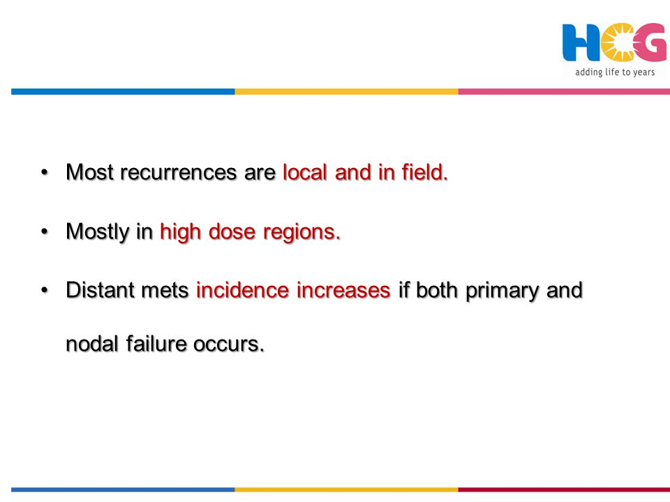 Most recurrences are local and in field.