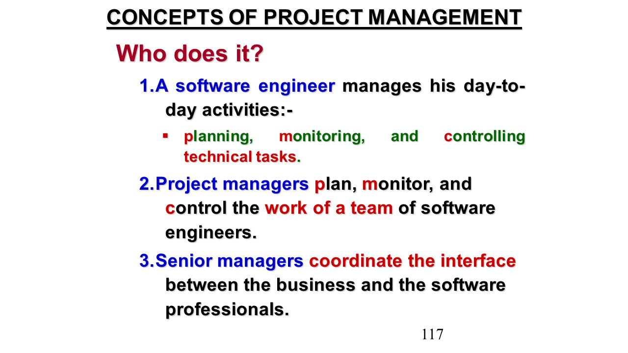 CONCEPTS OF PROJECT MANAGEMENT