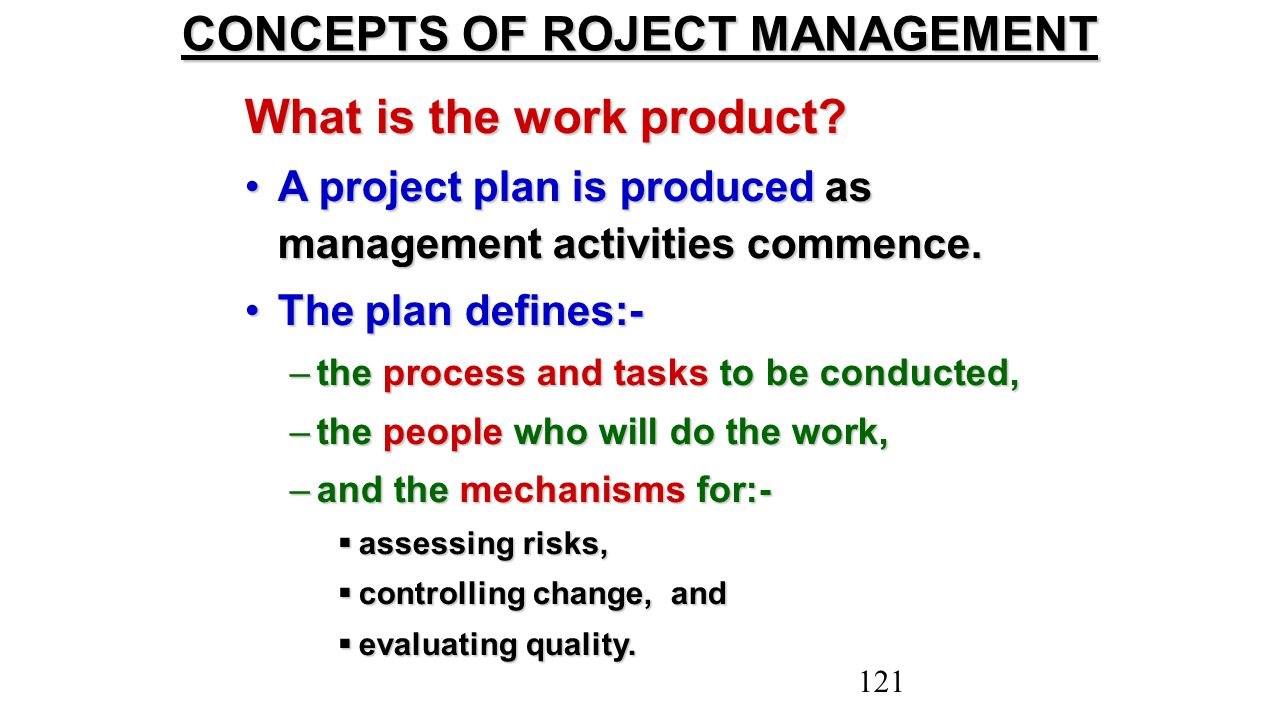 CONCEPTS OF ROJECT MANAGEMENT