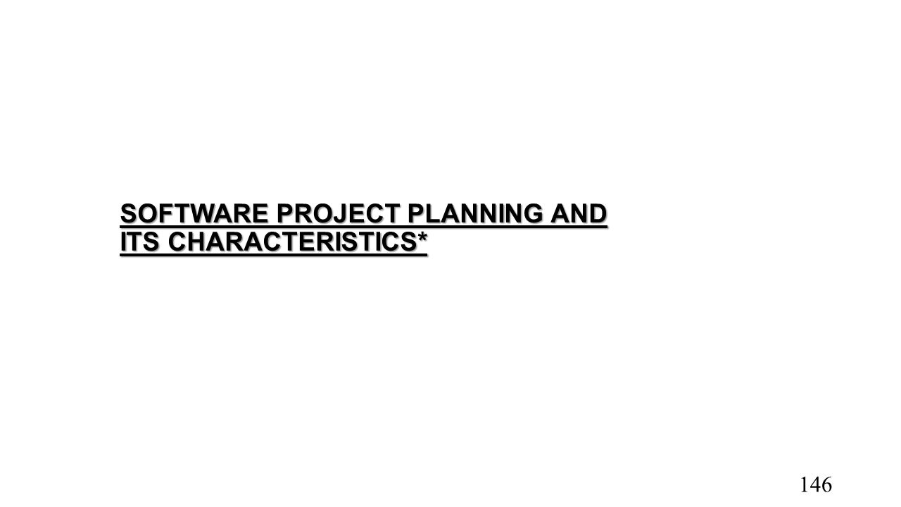 SOFTWARE PROJECT PLANNING AND ITS CHARACTERISTICS*