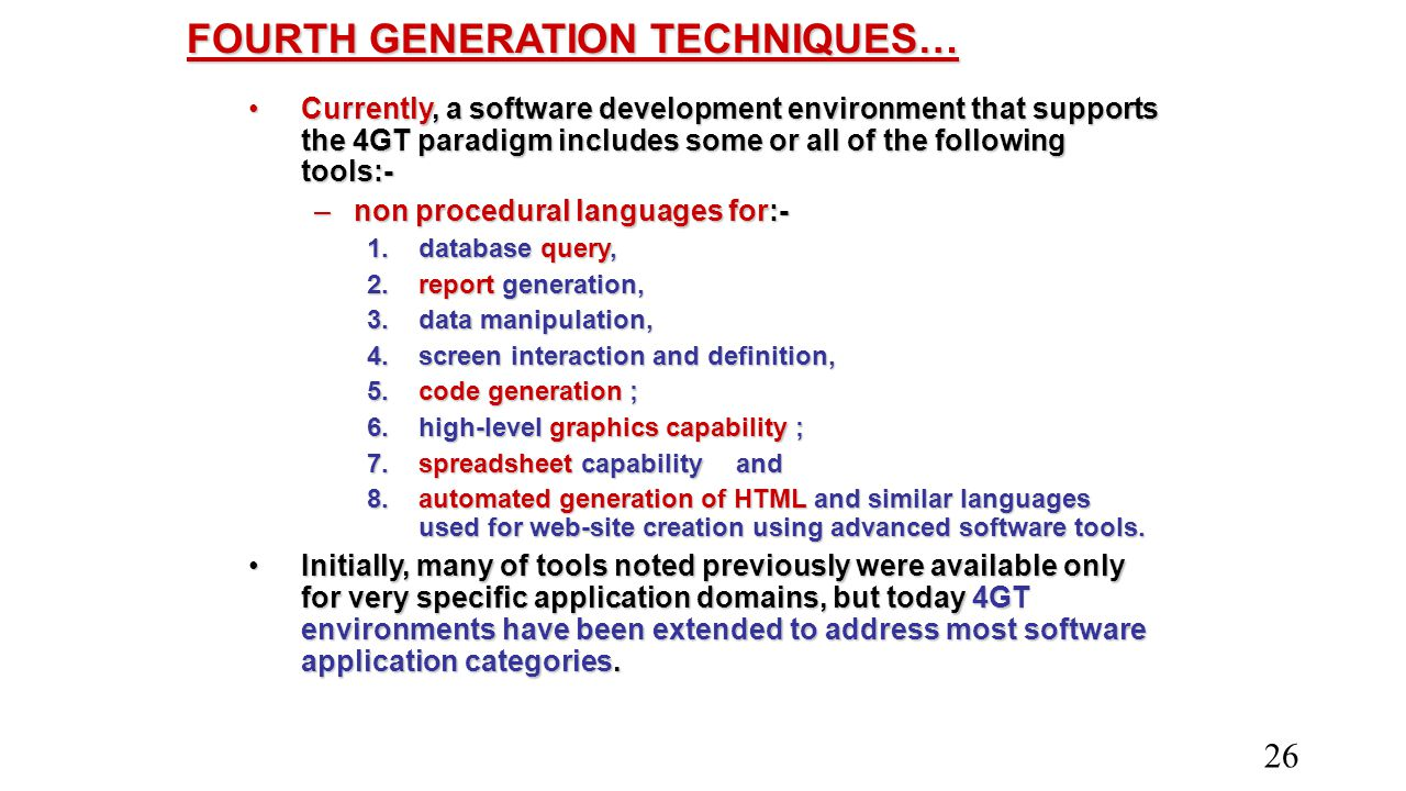 FOURTH GENERATION TECHNIQUES…