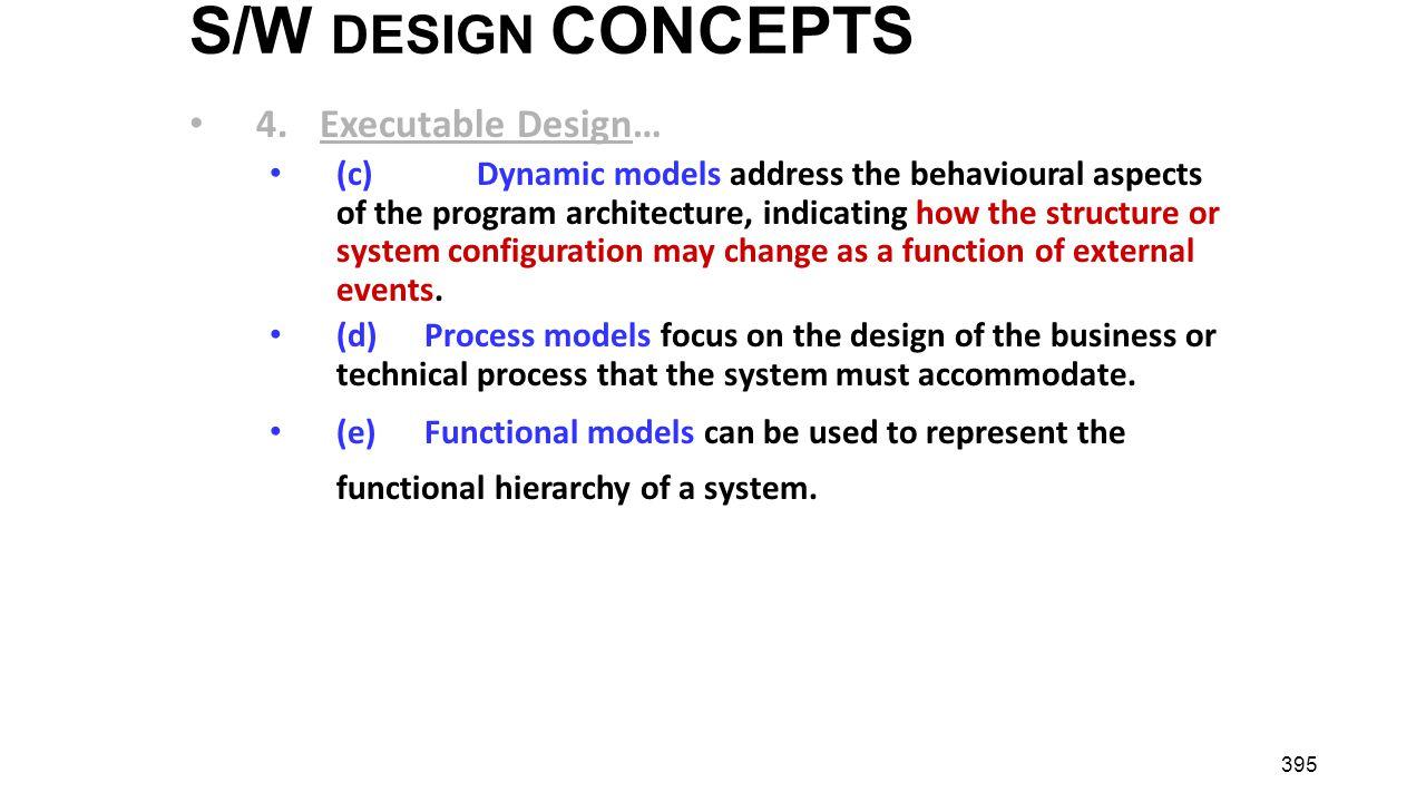 S/W DESIGN CONCEPTS 4. Executable Design…